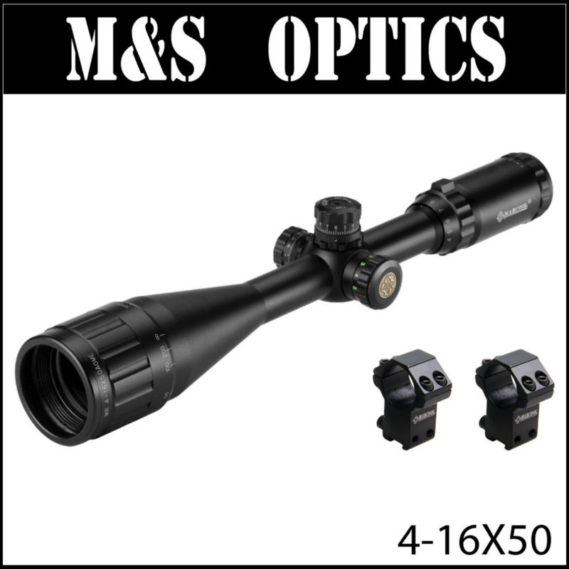 Marcool EST 4-16X50 AOIRGL AirSoftSport Hunting Rifle Scope Optics Sight With Riflescopes Mounts Scopes Sunshade For Air Guns все цены