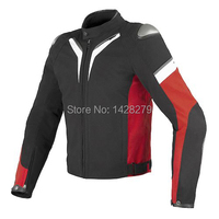 Black/White/Red Dain A. spider Men's Textile Motorcycle Riding Jacket Racing jacket with Protectors