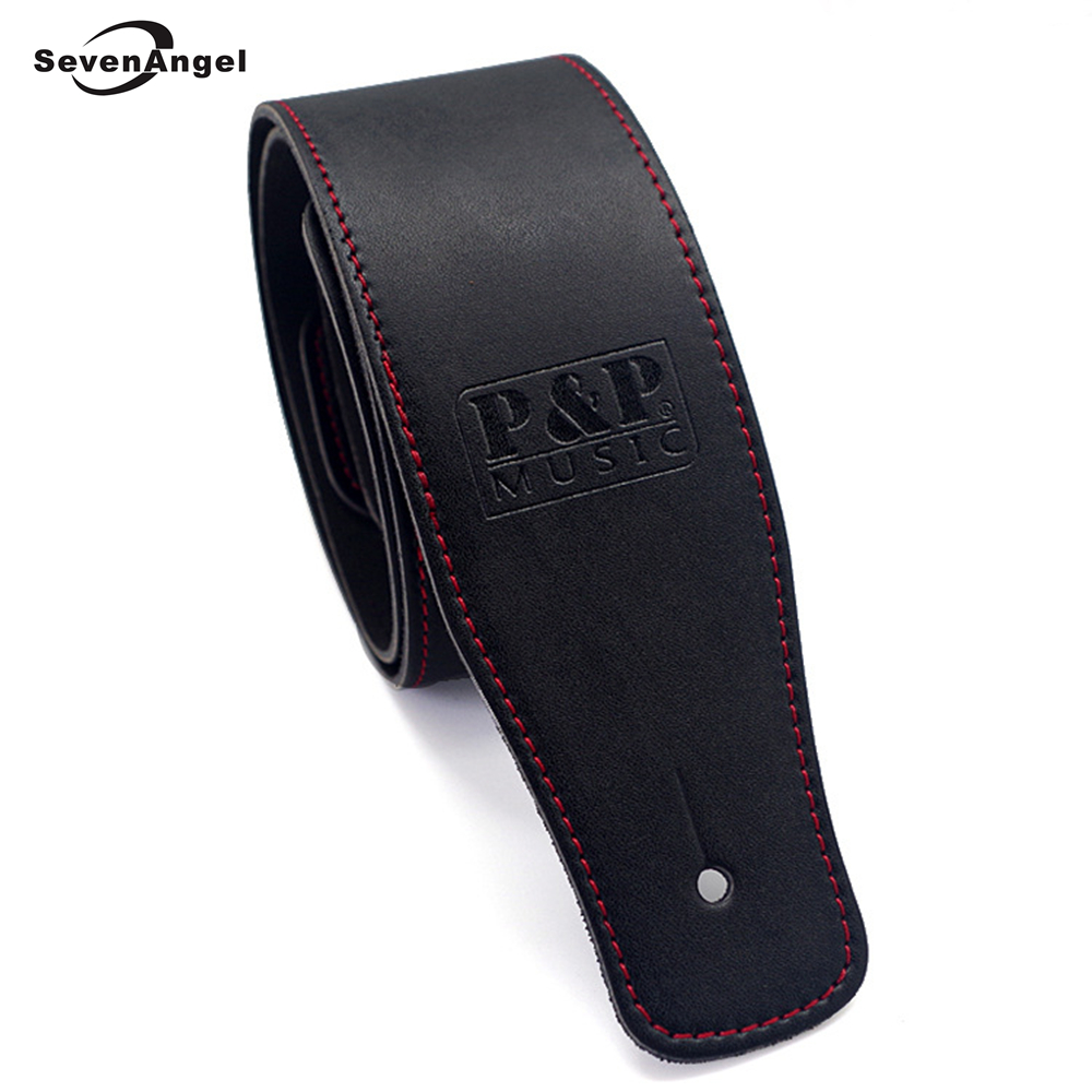 New High Quality Professional Guitar Strap 100% Cow Leather Widening Folk Acoustic Guitar Electric Guitar Bass Belt zebra cool skull electric guitar belt polyester acoustic folk guitar classic guitar strap for electric acoustic guitar bass