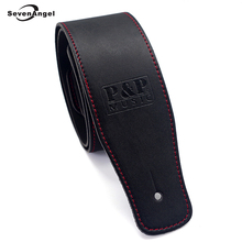 New High Quality Professional Guitar Strap 100% Cow Leather Widening Folk Acoustic Guitar Electric Guitar Bass Belt