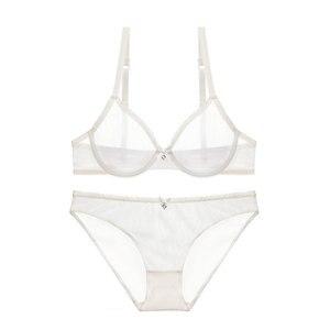 Image 5 - Varsbaby جديد رقيقة جدا شبكة الدانتيل مثير الملابس الداخلية النساء شفافة جمع البرازيلي مجموعات