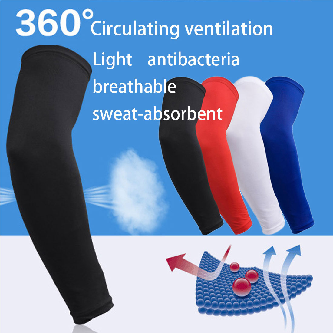 Sports & Entertainment 1 Pcs Breathable Basketball Arm Warmers Brand New Uv Protection Outdoor Running Cycling Elbow Pad Fitness Compression Armguard Fine Quality Running Arm Warmers