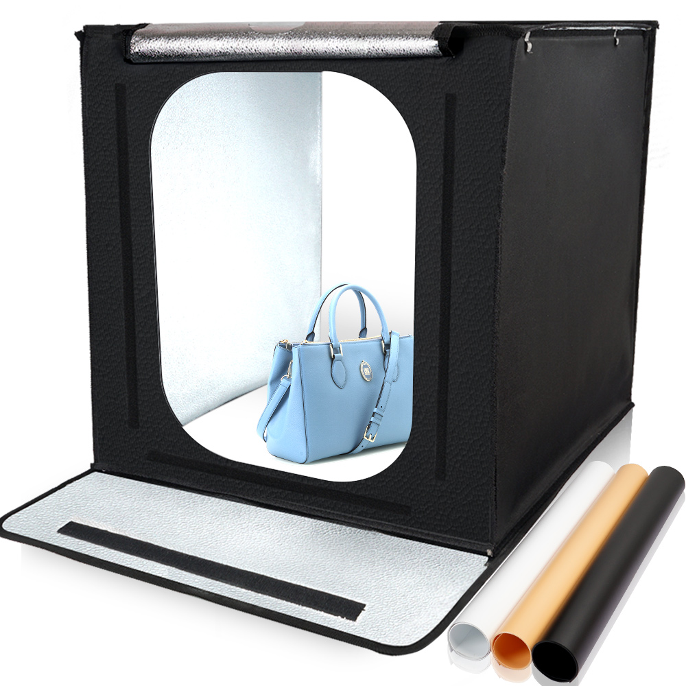 Travor F40 LED Pliant Photo Studio Softbox Lightbox 40*40 lumière Tente avec blanc jaune noir fond Accessoires boîte lumière - 6