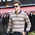 2016 outono dos homens novos camisas de manga longa polo grade moda polo camisas para os homens de negócios de alta qualidade casual puxar homme CB17D8815