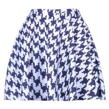HOUNDSTOOTH Design Women Sexy Pleated Skirts Tennis Bowling Bust Shorts Skirts Black White Female Fitness Sport Apparel A Style