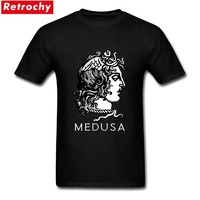 Creative Men S Medusa Logo T Shirts Stretch Classic Short Sleeves Crew Neck Cotton Greek Monster