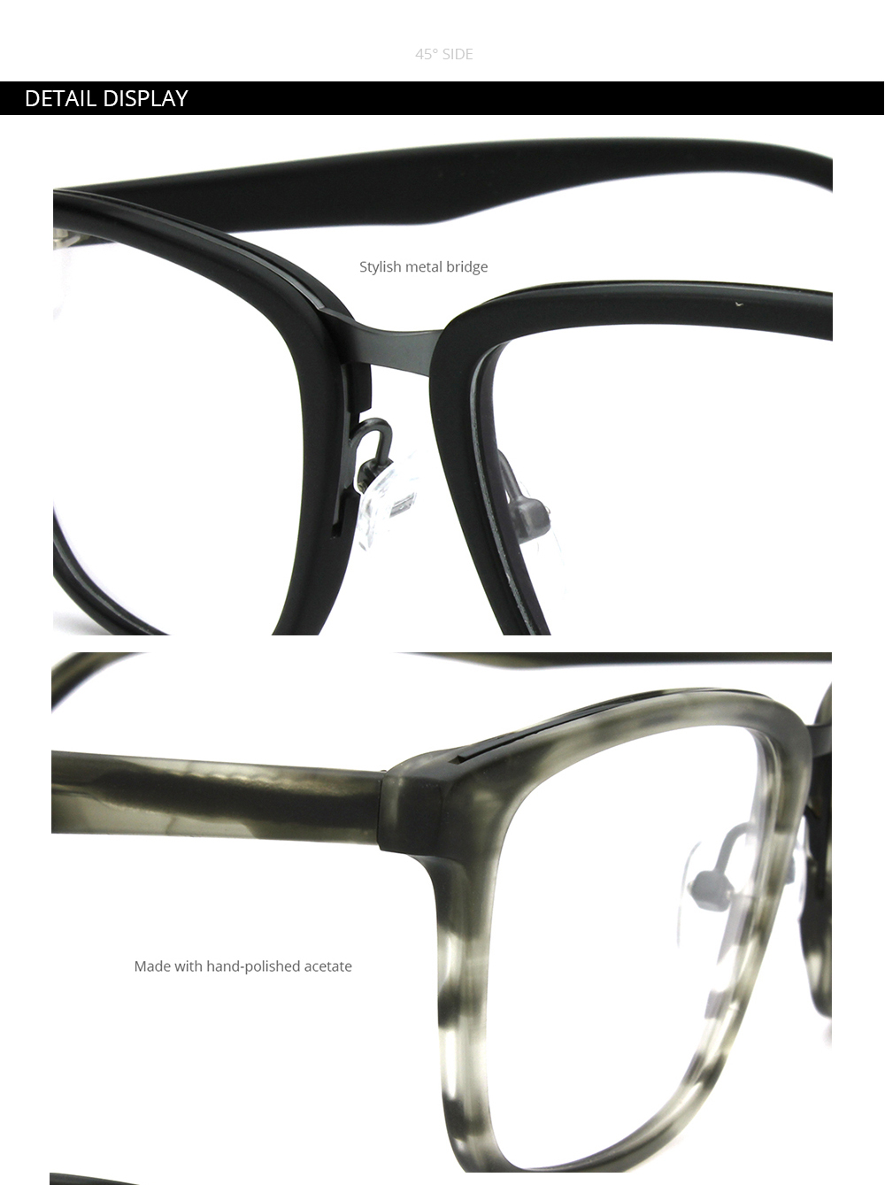 d7af0154b190 Mens Black RX Prescription Eye Glasses Frames For Women Vintage Metal  Bridge Optical Specs Frames Designer Square Eyewear BT2301