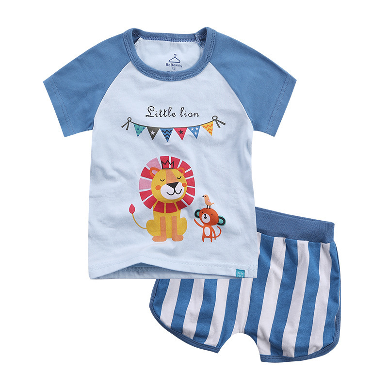 Baby Boy Clothes Summer Newborn Baby Girls Clothes Set Cotton Baby Clothing Suit (Shirt+Pants) Lion Infant Clothes Set baby set baby boy clothes 2 pieces