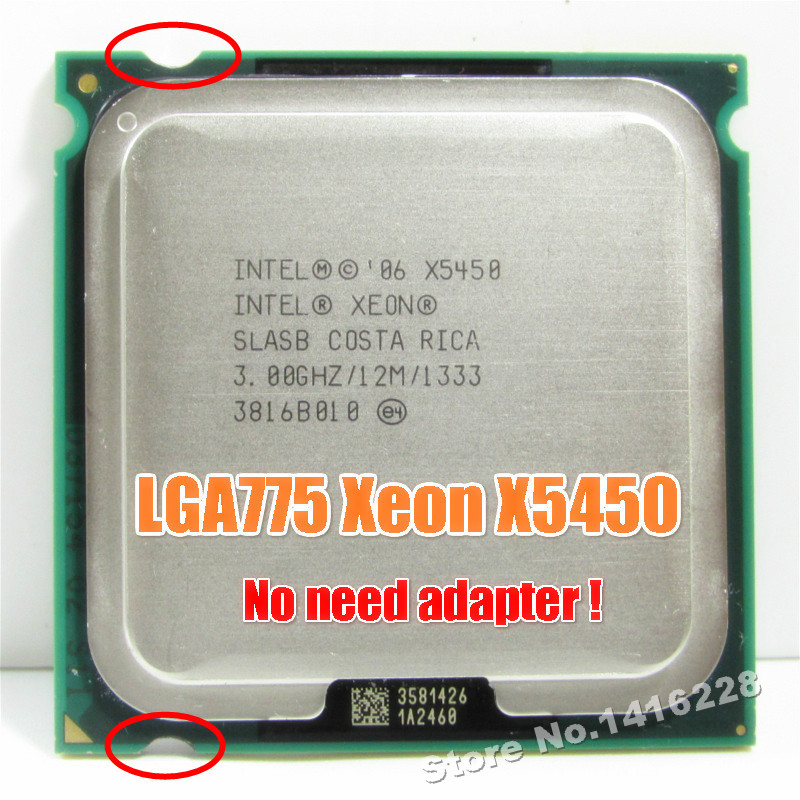 Xeon X5450 Processor 3.0GHz 12MB 1333MHz SLBBE SLASB Close to Core 2 Quad q9650 works on LGA775 motherboard(China)