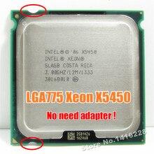Xeon X5450 프로세서 3.0GHz 12MB 1333MHz SLBBE SLASB 코어 2 쿼드 q9650에 가까운 LGA775 마더 보드에서 작동합니다.