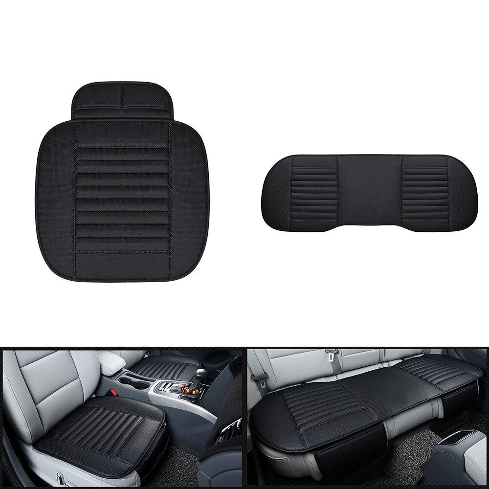 Funda de asiento de coche frontal Universal protección de asiento de coche sin respaldo para todos los coches SUV camiones fundas de asiento de automóviles
