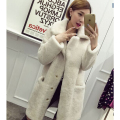 2017 Mex Plus Size Long Faux Lamb Fur Coat Women Thick Warm Loose Faux Fur Jacket Autumn Winter Fur Parka colete de pele