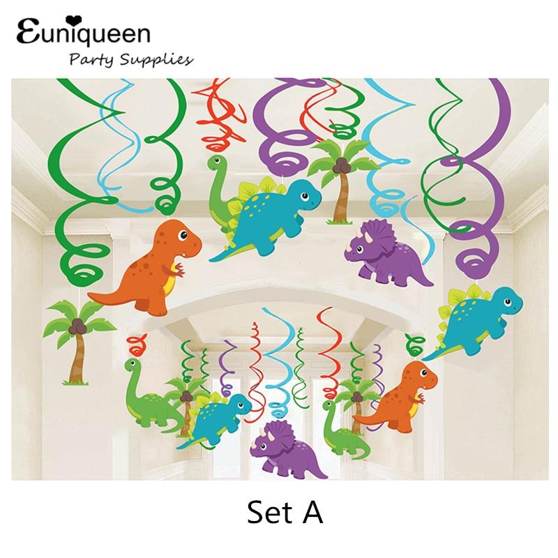 30pcs dinozavrov rojstnodnevna dekoracija PVC folija vrtinči - Prazniki in zabave