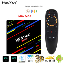 HAAYOT H96 MAX + Tvbox Android 8.1g 64 4g RK3328 Smartbox Set Top Box Quad core Google Voice controle 2.4/g Wi-fi 4 5 k Media Player