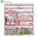 18 unids/set Otoño e Invierno bebé recién nacido niñas ropa Suave 2 unids ropa infantil de invierno de algodón de manga larga conjunto bebé set de regalo