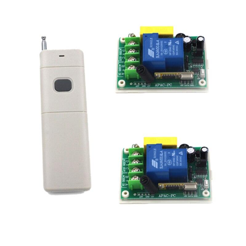 купить Two 30A high power 220V 1CH Remote control switch + One 1000m remote control (pump remote control switch) Free Shipping 4169 по цене 1464.36 рублей