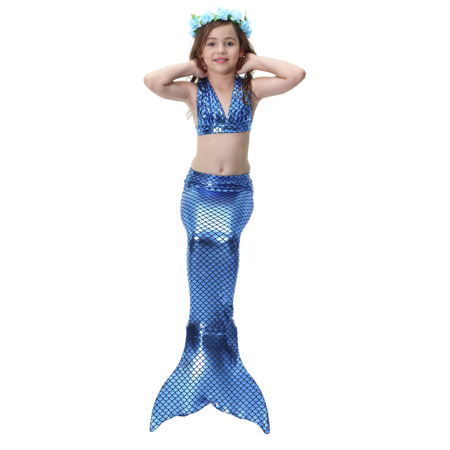 Detail Feedback Questions About 2018 3pcs Girls Sexy Bikini Mermaid