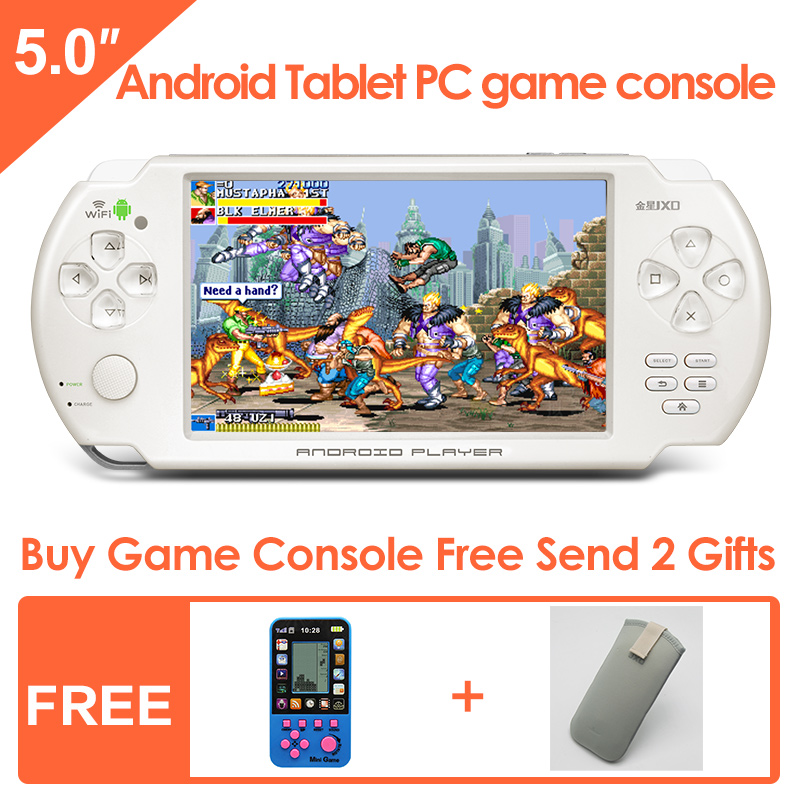 ФОТО JXD S5300 5.0-inch Touch Screen Android Handheld Game Console Support simulator and Gravity games for N64 CP1/CP2/NEOGEO/GBA/FC