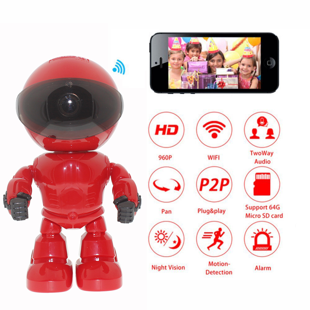 960P 1.3MP HD Wireless IP Camera Wi-fi Robot Camera Wifi Night Vision Camera IP Network Camera CCTV Support Two-way Audio robot camera wifi 960p 1 3mp hd wireless ip camera ptz two way audio p2p indoor night vision wi fi network baby monitor security