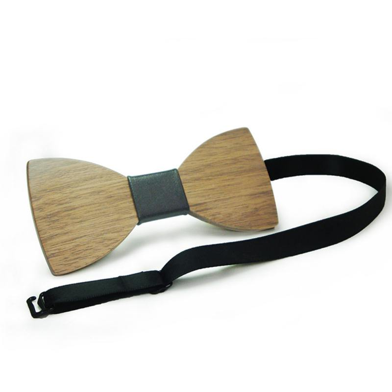 Wooden Gentle Men Boy Bow Tie Butterfly Wooden Bowties Party Shirts Clothes Bowties