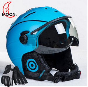 MOON Goggles Skiing Helmet Integrally-molded PC+EPS CE Certificate Ski Helmet Outdoor Sports Ski Snowboard Skateboard black kayak boating water sports helmet abs out shell prefessional water skiing helmet