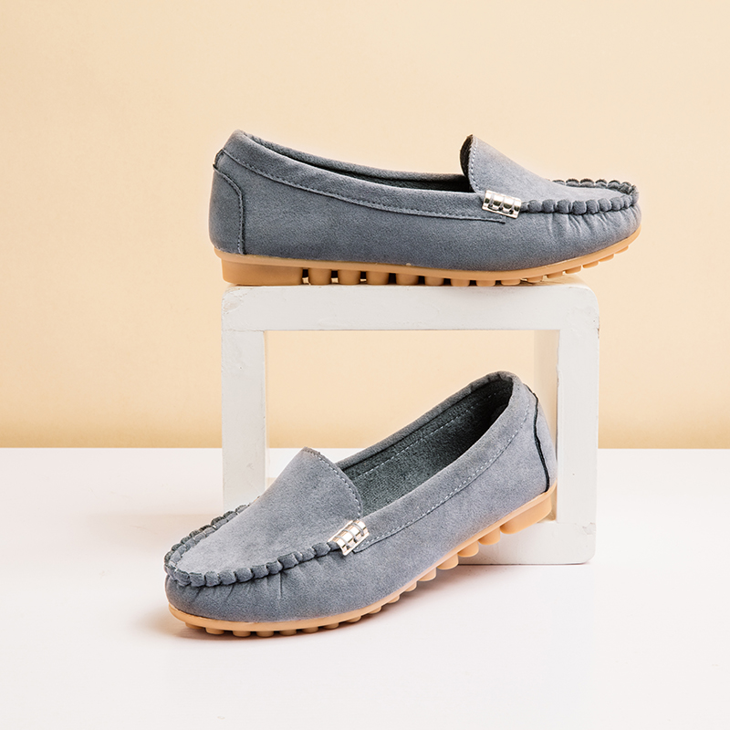 HTB1faz6XZ vK1Rjy0Foq6xIxVXa9 Plus Size 35 43 Women Flats shoes 2019 Loafers Candy Color Slip on Flat Shoes Ballet Flats Comfortable Ladies shoe zapatos mujer
