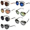 Vintage Ronda gafas de Sol Polarizado Espejo Lente Ronda Gafas de Cyber Goggles Steampunk gafas de Sol Retro Vintage gafas de sol de los hombres