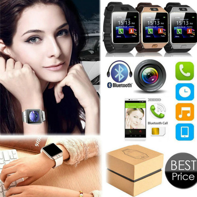 DZ09 Smart Watch Sync Notifier Support SIM TF Card Smartwatch Support Multi Languages Smart Electronics for Android/ios Phones