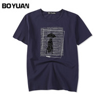 BOYUAN Brand Fashion T Shirt Men T Shirt O Neck Short Sleeve Designer Slim Fit Cotton