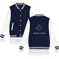 Kpop TOMORROW X TOGETHER TXT Group Logo YEONJUN Baseball Jacket Clothing Long Sleeve Jackets and College Style Streetwear