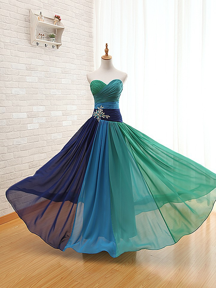 Peacock Wedding Dresses 2015