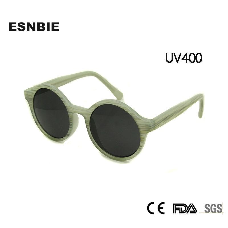 c81fa295ab416 ESNBIE Retro Rodada Mulheres Óculos De Sol Do Vintage oculos de sol feminino  Óculos UV400 Óculos Shades Óculos de Sol das Mulheres Reflexivas
