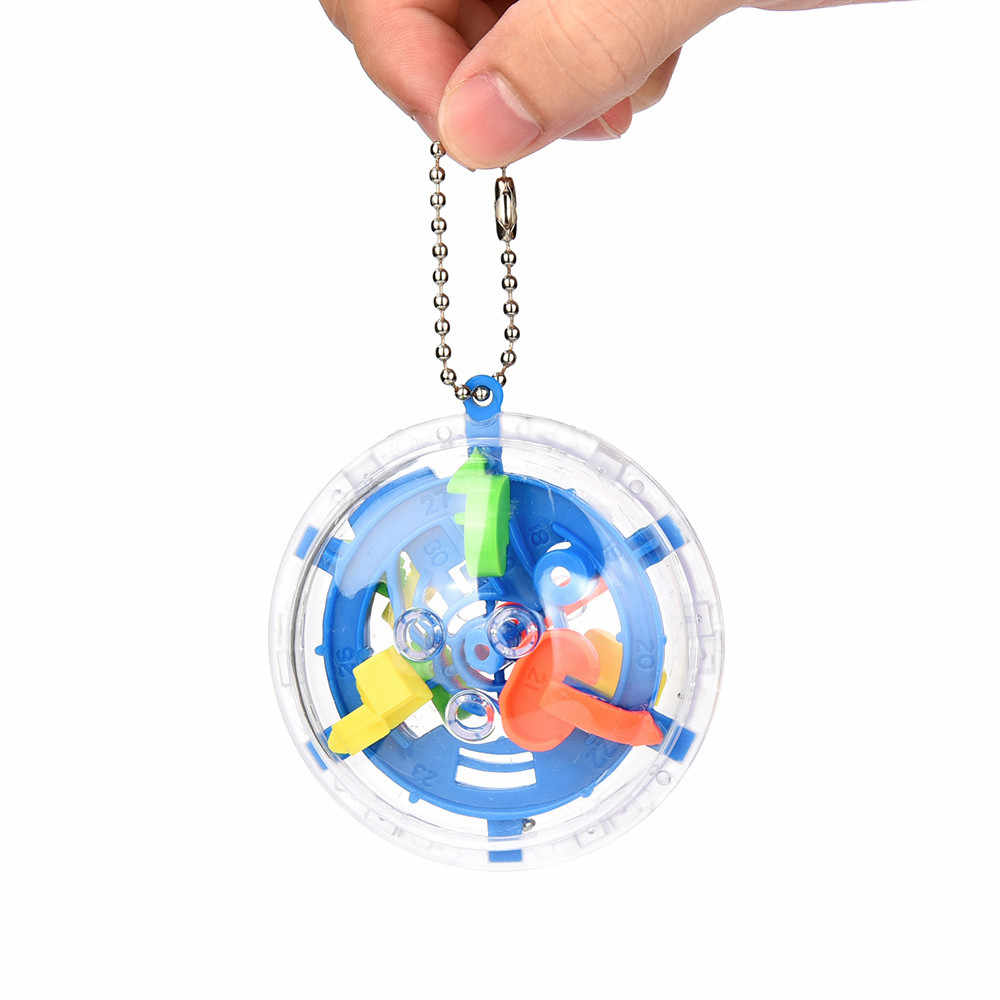 Mini Palla Labirinto Intellect 3d In Metallo Giocattolo di Puzzle Equilibrio Barriera Magia Labirinto Mano Sferica Giocare Giocattoli Educativi Per I Bambini