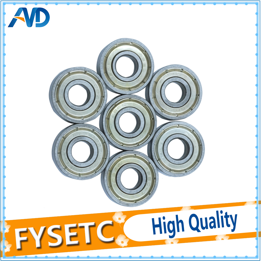 10pcs Shielded Miniature High-carbon Steel Single Row 608ZZ ABEC-7 Deep Groove Ball Bearing 8*22*7 8x22x7 mm 608-ZZ Ball Bearing image