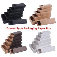 Pudełko z papieru pakowego typu Craft pudełko białe czarne biżuteria mydło wyrabiane ręcznie pudełka do pakowania na wesele Candy