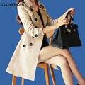 CLUXERCER Бренд Пальто Для Женщин Верхняя Одежда Роскошный Старинный Вышивка Печати Длинное Пальто Casaco Feminino Траншеи Плюс Размер 4XL