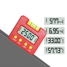 Electronic protractor digital inclinometer level 360 degree bevel box angle instrument magnet base measurement tool
