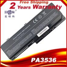 HSW Laptop Battery For TOSHIBA PA3536U 1BRS PA3537U 1BRS PABAS100 PA3536 PA3536U Satellite P200 10G For Toshiba Equium P200 P300