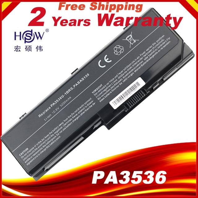HSW Laptop bateria do toshiby PA3536U 1BRS PA3537U 1BRS PABAS100 PA3536 PA3536U z dostępem do kanałów satelitarnych P200 10G dla Toshiba Equium P200 P300