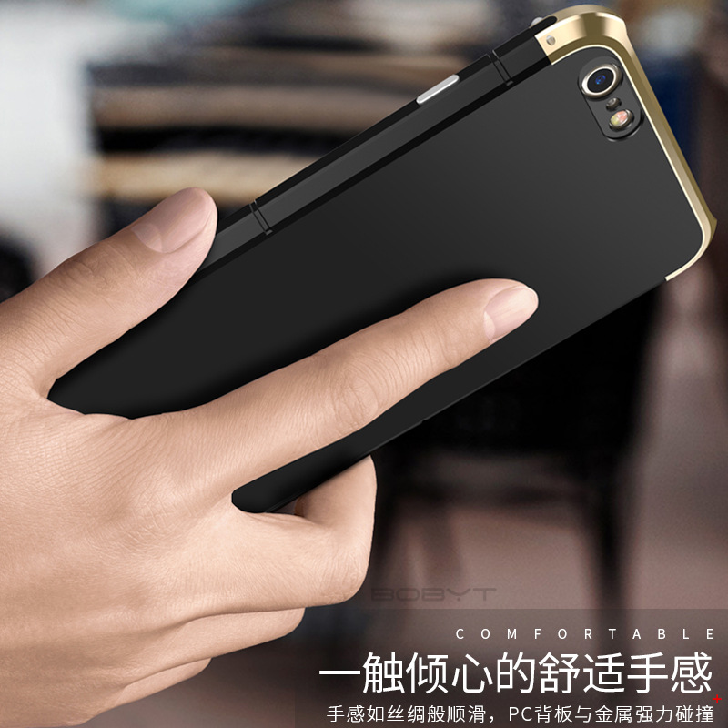 On Big Sale Showkoo Fashion Metal Aluminum With PC 3 in 1 For iPhone 6 6s + Back Cover Shockproof Shell For iPhone 6S Plus Coque