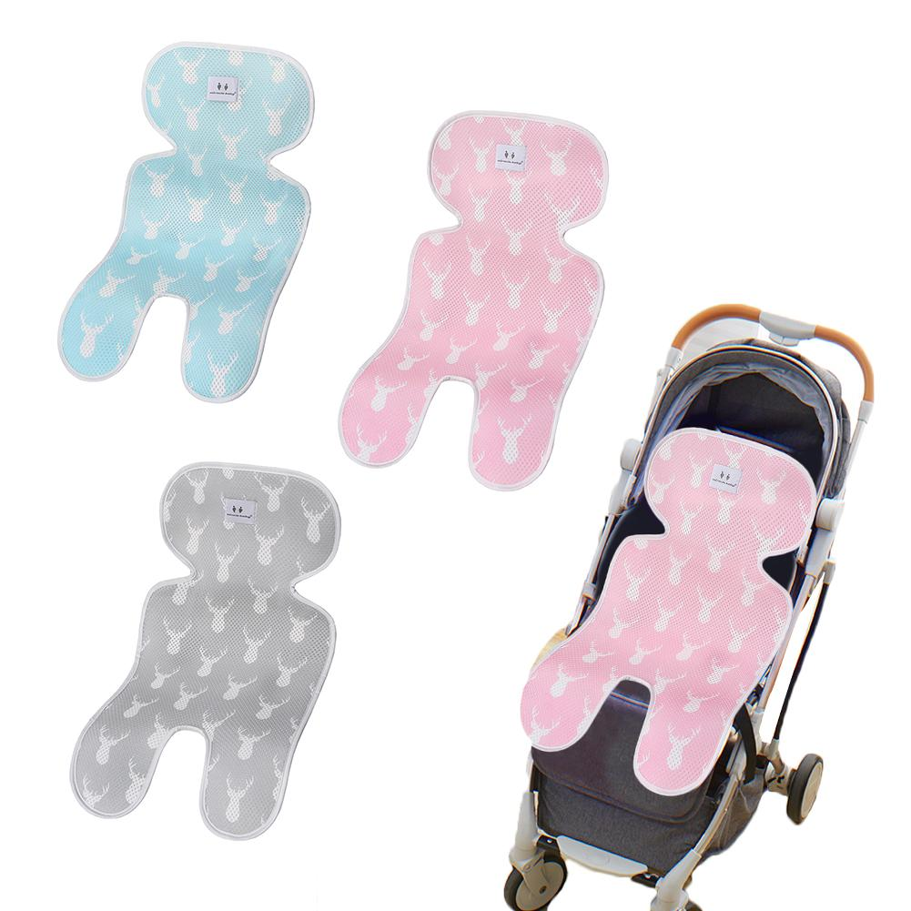 Pushchair Liner Summer Pram Buggy Stroller Liner Universal Breathable Cool and Comfortable for Newborn Baby Pink