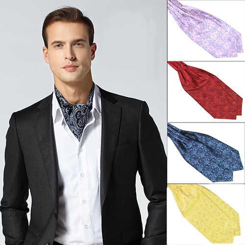 Men's Classic Colorful Silky Satin Wedding Banquet Necktie Cravat Ascot  Tie ascot ties cravat ascotties ties - AliExpress