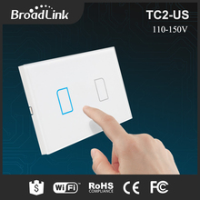 New Broadlink TC2 2 Gang Wifi Wall Light Touch Switch 433MHZ 110-150V US Standard IOS Android Phone Remote Control Smart Home