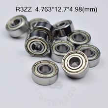 цена на R3ZZ bearing 4.763*12.7*4.98(mm) ABEC-5 bearings metal Sealed Miniature Bearing 3/16 x 1/2 x 0.196 inch R3 R3Z R3ZZ
