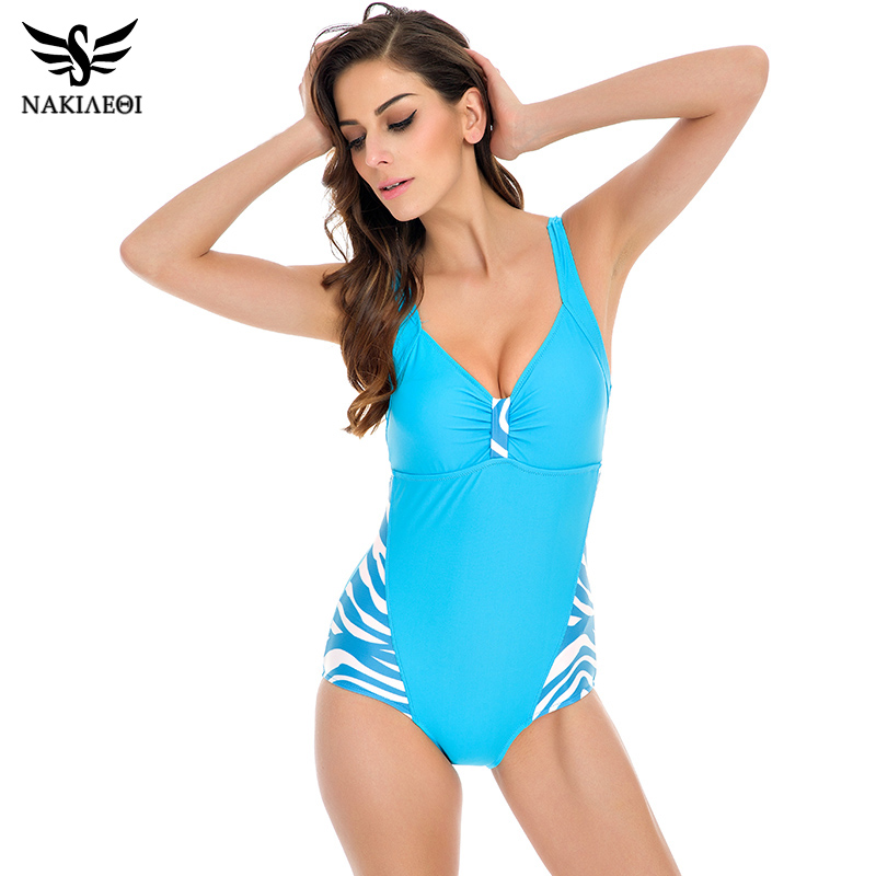 c872270bb9e NAKIAEOI 2019 New One Piece Swimsuits Plus Size Swimwear Women Bathing Suit  High Waist Swimsuit Monokini Push Up Backless Black-in Body Suits from  Sports ...