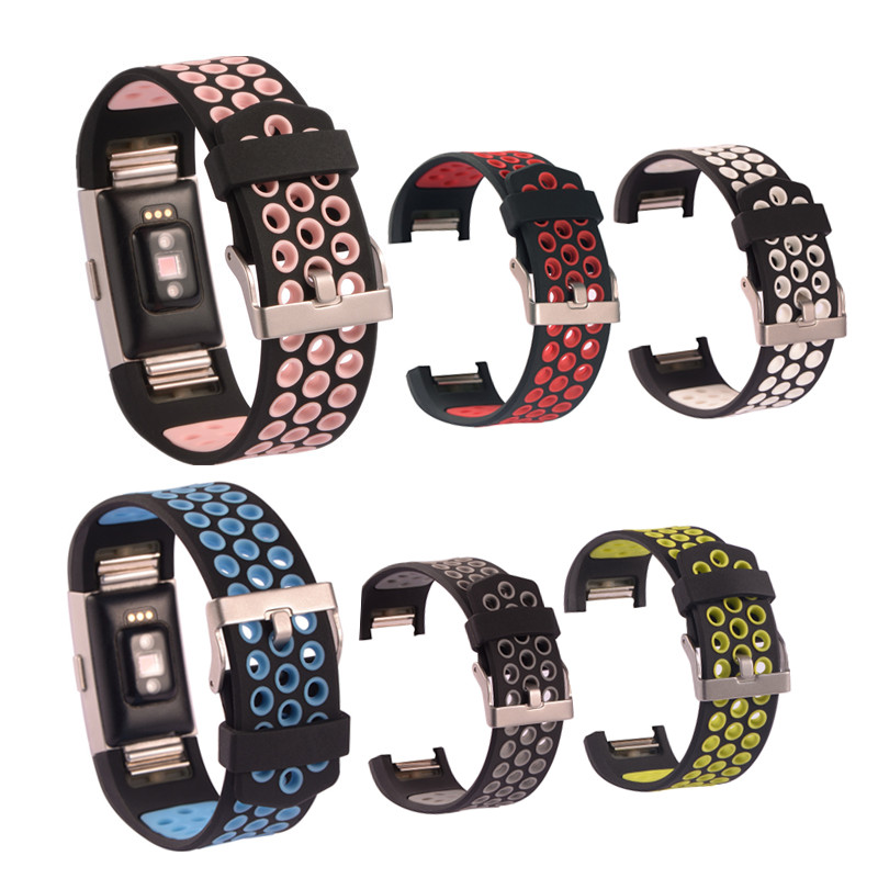 For Fitbit Charge 2 Band Strap Silicone Replacement Strap Bracelet Watchbands Smart Wristbands Smart Wearable Device Accessories