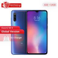 "Version mondiale Xiao mi mi 9 mi 9 Snapdragon 855 6GB 64GB 6.39 ""AMOLED affichage d'empreintes digitales Smartphone 48MP Triple caméra Smartphone"