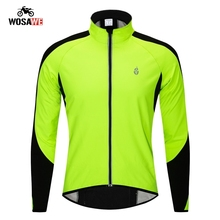 WOSAWE motorcycle Jackets thermal Fluorescent Green winter Autumn Clothing Sportswear Jersey Windproof Coat motocross jackets