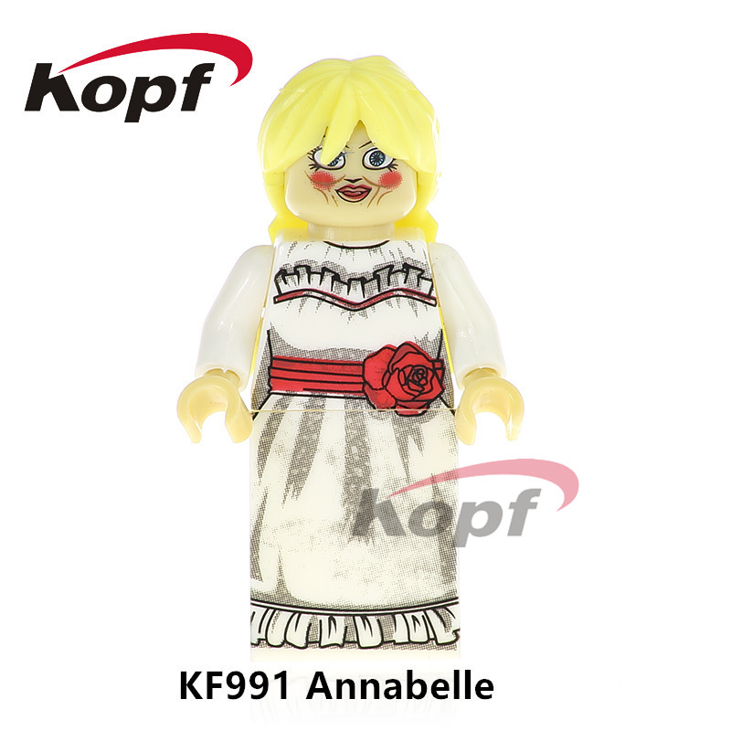 Single Sale Super Heroes Annabelle Stay Puft Marshmallow Man Finn Bricks Building Blocks Best Collection Toys for children KF991 single sale super heroes nya gamma master wu gnea pythor kozu zane ninja 71019 building blocks bricks toys for children pg8070