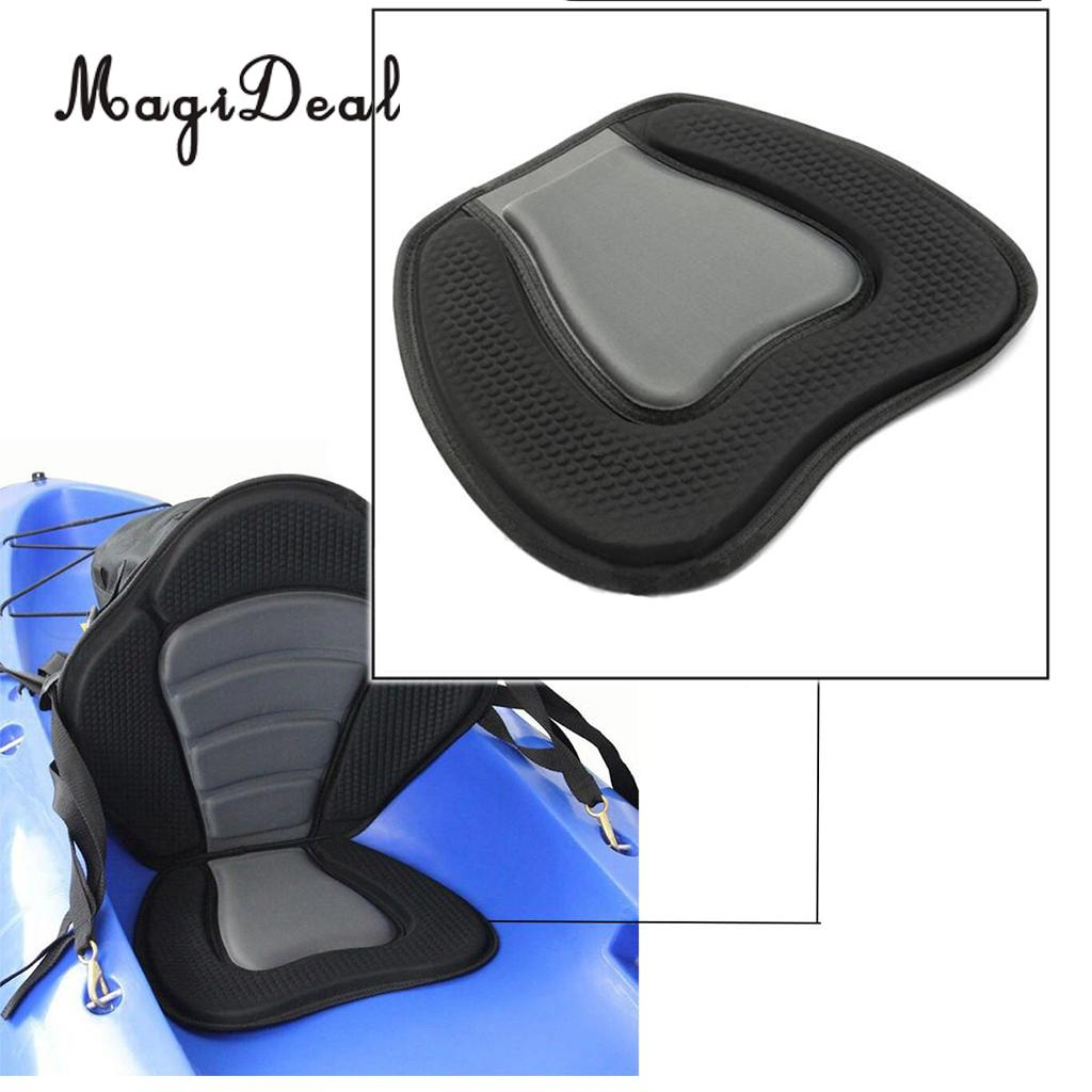 MagiDeal 1Pc Adjustable Canoeing Sit On Top Standard Kayak Back Rest Seat Support&Seat Cushion Pad Acce Inflatable Drift Boats